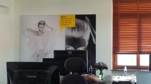 Poster derrière mon bureau